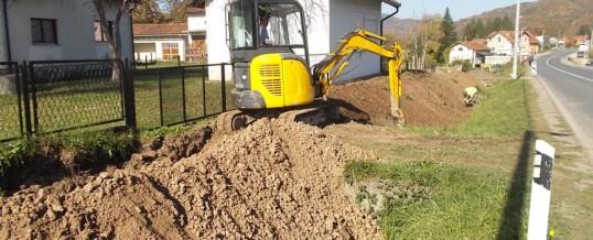 U toku radovi na izgradnji vodovoda prema Podbrđu